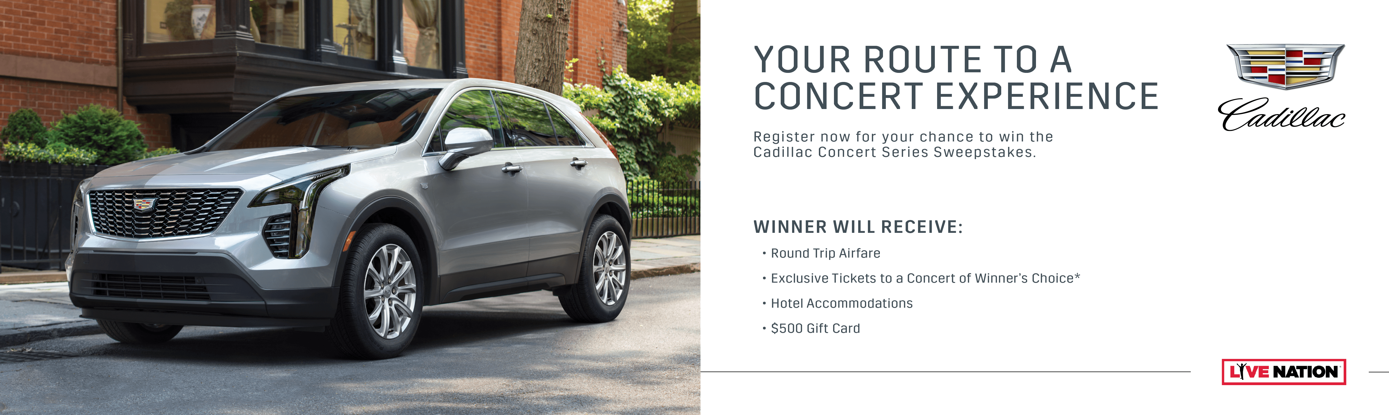 Complete The Required Fields Below To Register For 2019 Cadillac Concert Series Sweepstakes